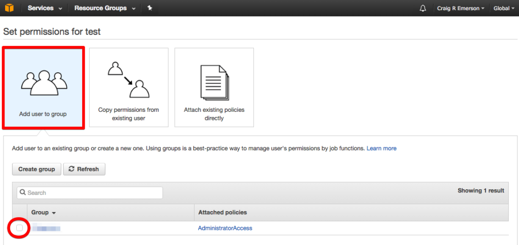 aws management console user permissions