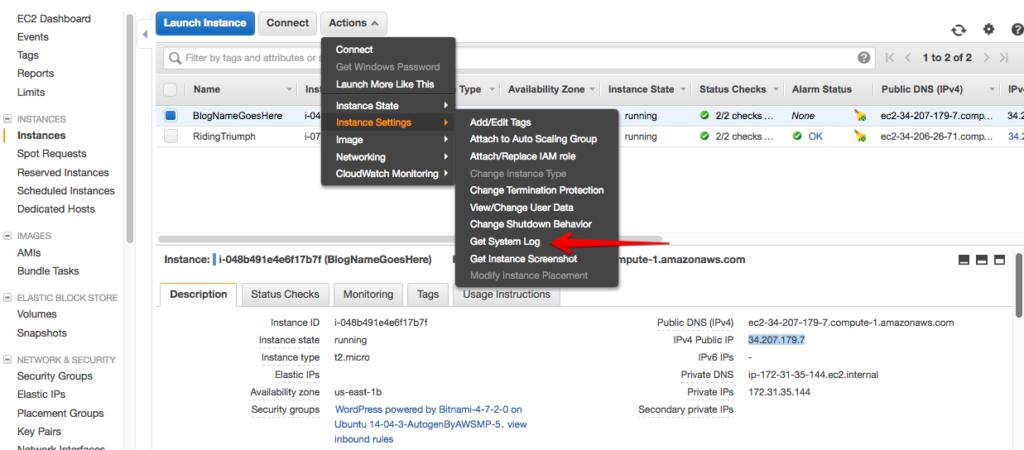 aws wordpress hosting